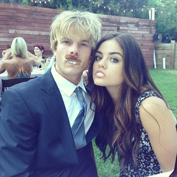 Grahm-Rogers-and-Lucy-Hale-Having-Great-Time